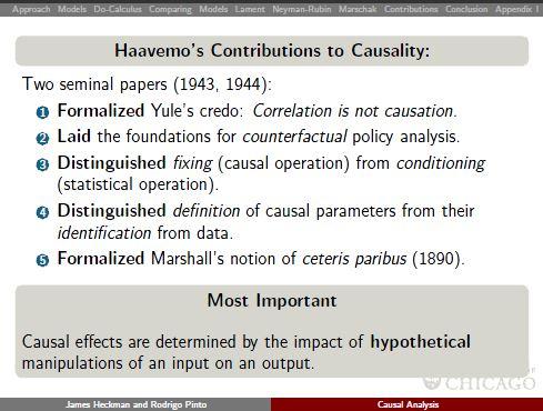 Heckman 2013 Haavelmos contributions to causality